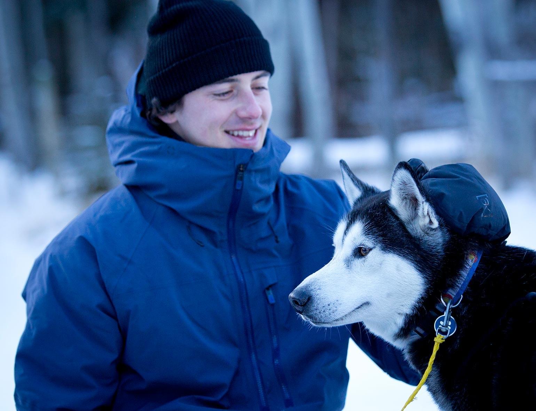 RBC Olympian Mark McMorris pets husky