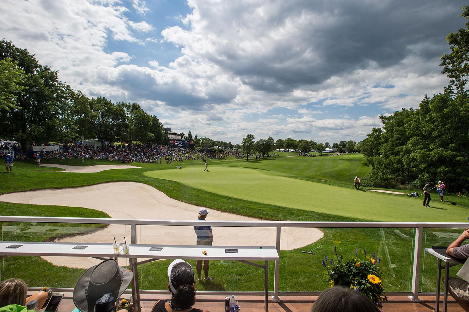 Behind the scene image from the stands of the RBC Canadian Open.