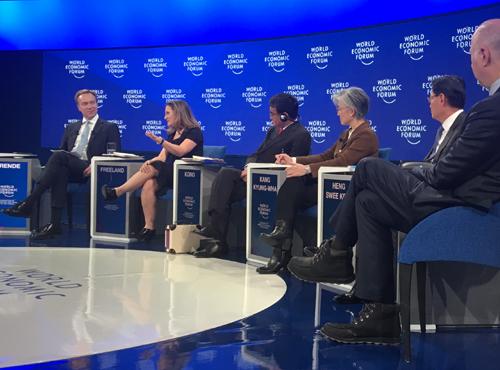 Chrystia Freeland at the 2019 World Economic Forum in Davos