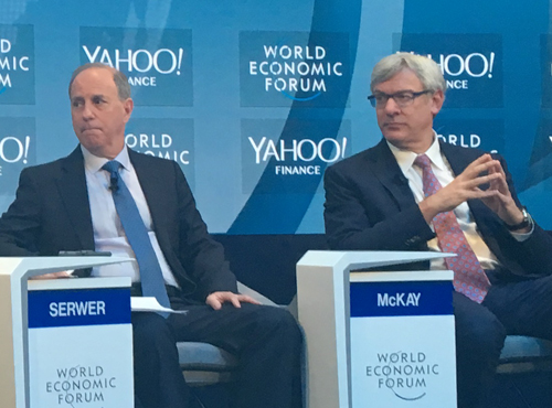 RBC CEO Dave McKay at the 2019 World Economic Forum in Davos