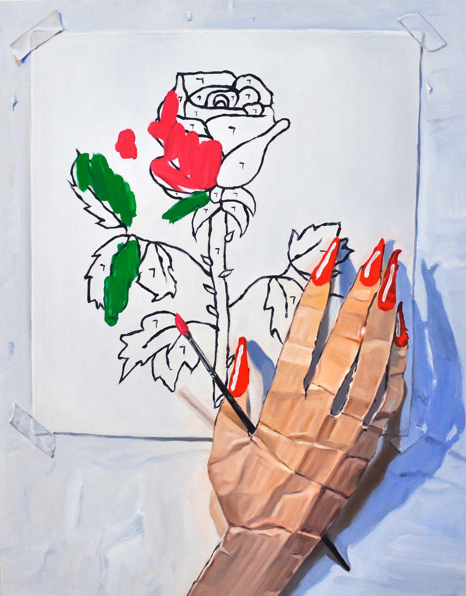 Laura Rokas-Bérubé - Paint by Number 7, 2017