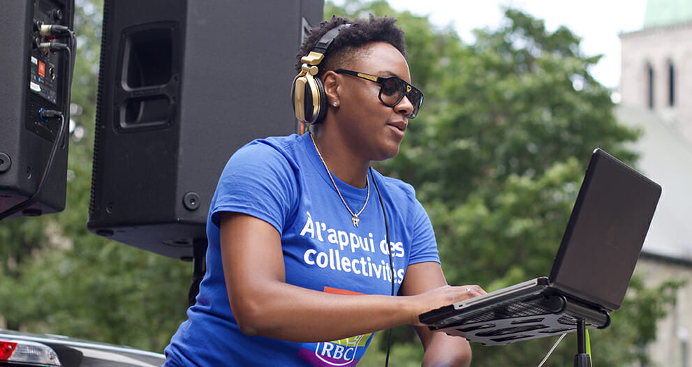 "Ketty Cédat, RBC employee also enjoys entertaining listeners as ""DJ Kayssy."""