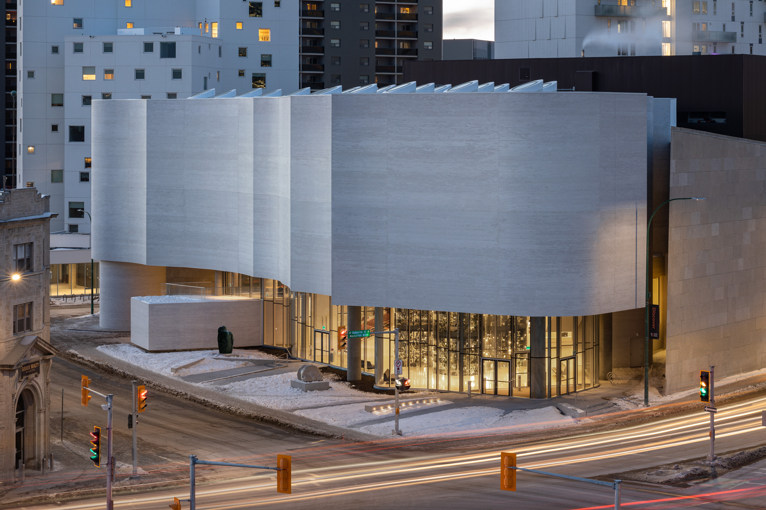 Qaumajuq, the Inuit art Centre at the Winnipeg Art Gallery. Photo by Lindsay Reid