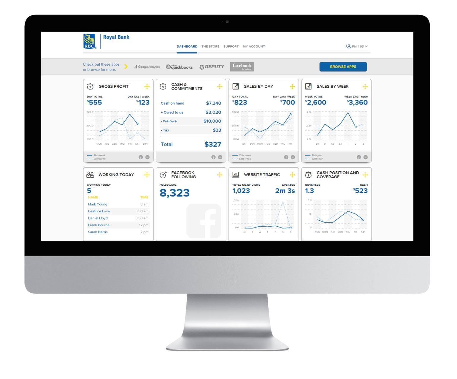 MyBusiness Dashboard provides a streamlined view of all the information you need to understand your business.