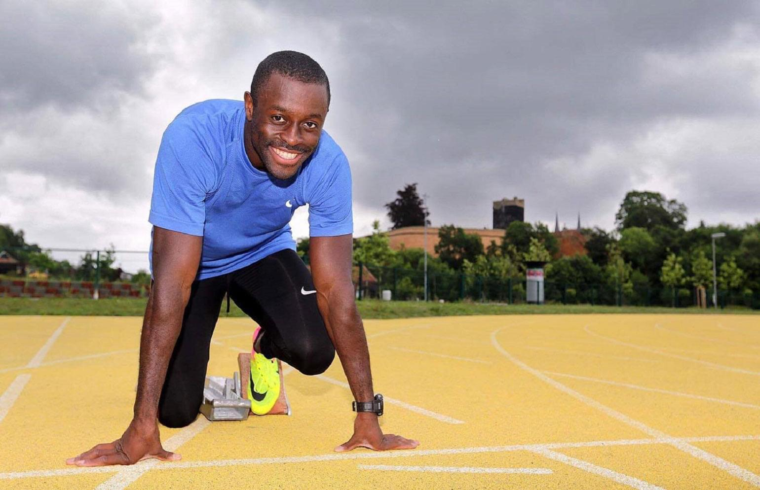 Sam Effah, RBC Olympian on starting line ready to sprint