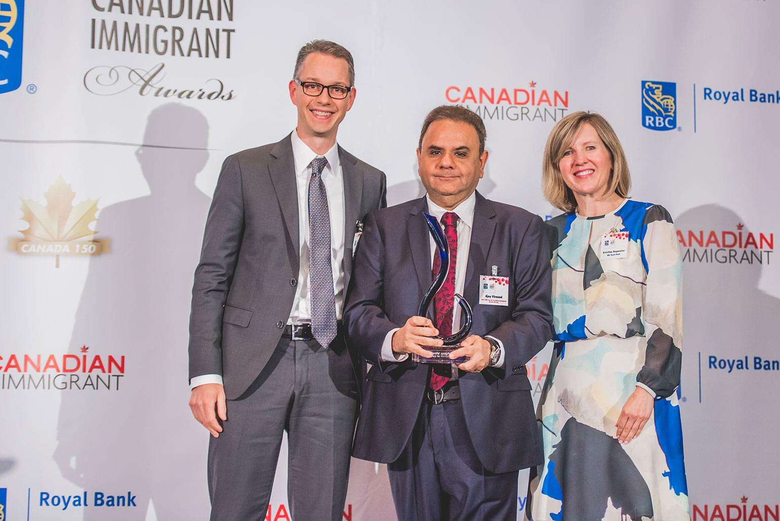 Ajay was recently recognized as a winner in the annual RBC Top 25 Canadian Immigrant Awards – an award that celebrates the outstanding accomplishments made by Canadian newcomers.