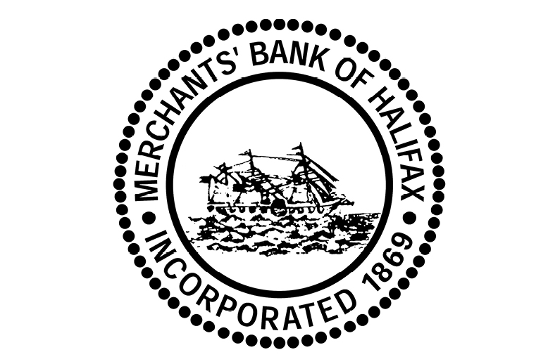 The Merchants Bank of Halifax logo from 1869